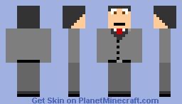 suit man Minecraft Skin