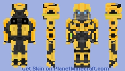 Offroad Bumblebee [Bee Jeep form] Minecraft Skin