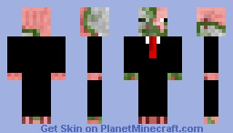 Pig zombie in a suit Minecraft Skin