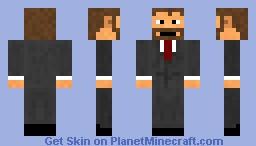 Classy Beard Minecraft Skin