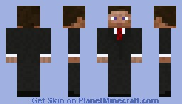 Business Suit- MODDIFIED- Red Tie Minecraft Skin