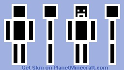 black and white (better in preview) Minecraft Skin