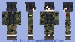 Ukrainian soldier Minecraft Skin