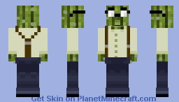 Cactus Daichi (I don't know why :P) | Mob Psycho 100 Minecraft Skin