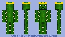Cactus King (nude) Minecraft Skin