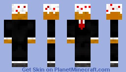 Cake in a Suit Minecraft Skin