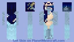 [FREE TO USE] Blue mermaid Minecraft Skin
