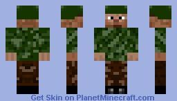 Camouflage Minecraft Skin