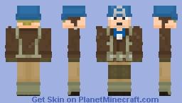 Captain America WW2 Minecraft Skin