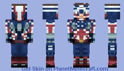 Captain Australia | Re-Imagined Marvel Heroes Minecraft Skin