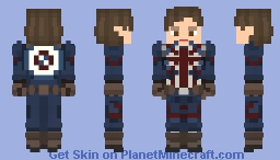 What If...? | Captain Carter Minecraft Skin