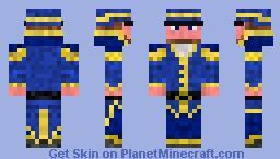 Blue Captain Minecraft Skin