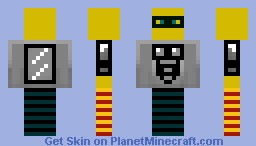 captain awesome Minecraft Skin