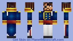 Captain James Mallister of the USS Surprise Minecraft Skin