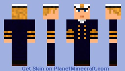 Ship Captain with Hat Minecraft
