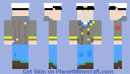 Captain Eduard Baranov: Metro Exodus Sam's Story Minecraft Skin