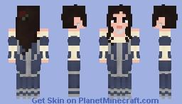 Hyspian woman in Spanish Baroque Gown Minecraft Skin