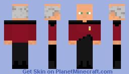 Captain Picard Minecraft Skin