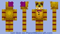 into the pit Fredbear Minecraft Skin