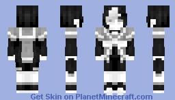 [Kari] Monochrome Necromancer || Third Persona Minecraft Skin