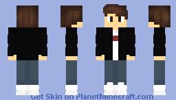 Black Jacket Minecraft Skin