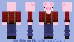 Piggy Lumberjack (Cerdito Leñador) Minecraft Skin