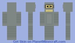 Bender from Futurama skin Minecraft Skin