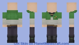 Green Mantis Uniform [Black Clover] Minecraft Skin