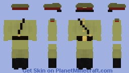 The uniform of an officer of the Red Army during the Second World War Minecraft Skin