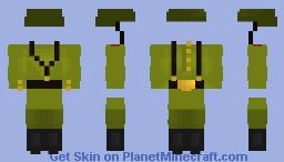 Soldier of USSR Minecraft Skin