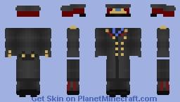 Winter uniform of Soviet Police General Minecraft Skin