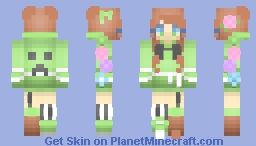 Creeper Girl For mellieee_'s Contest! Minecraft Skin