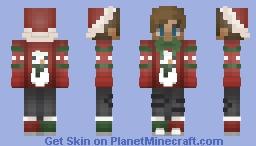 cute christmas boy Minecraft Skin
