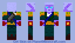 Haan'Dee - The Dark Elf Minecraft Skin