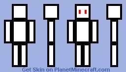 White RoboCrafter Minecraft Skin