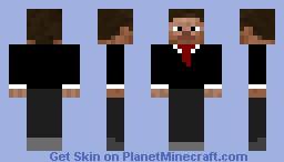 Suited Steve Minecraft Skin