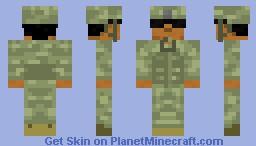 US Army soldier Minecraft Skin