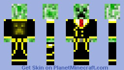 golden creeper Minecraft Skin