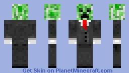 Creeper in suit Minecraft Skin