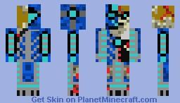 Battle Damaged Cobalt Armor Minecraft Skin