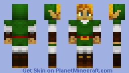 Link Ocarina of Time Minecraft Skin