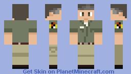 Jurassic park Worker Minecraft Skin