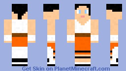 Portal 2 Chell Minecraft Skin
