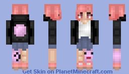 ❆𝓝𝓲𝓷𝓳𝓪𝓖𝓲𝓻𝓵2024❆ Chewy Bubble Gum Minecraft Skin