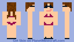Chick in Thong Minecraft Skin