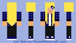 Chipjelly's skin request. -Tomboy Minecraft Skin