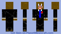 Chocolate in a suit (Request) Minecraft Skin