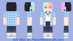 ʍɑʀɑ | white flag - oc Minecraft Skin