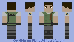 Chris Redfield (resident Evil 1) Minecraft Skin