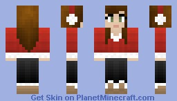 Cute winter girl Minecraft